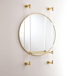 Hadley Mirror - Brass w/Glass Shelf