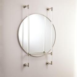 Hadley Mirror - Nickel w/Glass Shelf