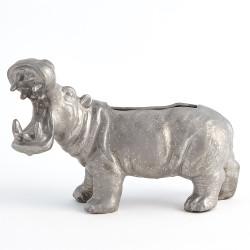 Hippo Planter - Silver