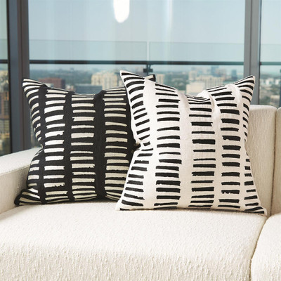 I See You Hear Pillow - Black/Beige