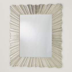 Linenfold Mirror - Brass - Lg