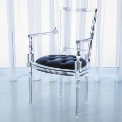 Marilyn Acrylic Arm Chair - Admiral Blue