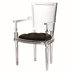 Marilyn Acrylic Arm Chair - Black