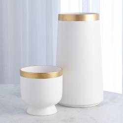 Modern Gold Banded Vase - Lg