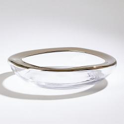 Organic Formed Bowl - Platinum Rim