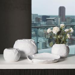 Petale Vase - Matte White - Lg