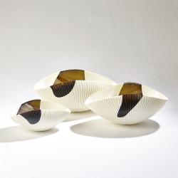 Pleated Bowl - Bronze Stripe - Sm