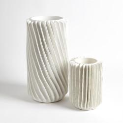 Radiator Swirl Vase - Matte White - Lg