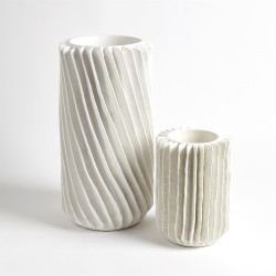 Radiator Swirl Vase - Matte White - Sm