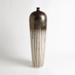 Reactive Bronze Stripe Vessel - Tall