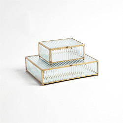 Reeded Glass Box - Clear - Lg