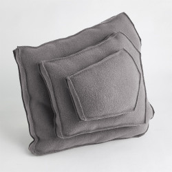 Global Views Rock Pillow - Grey - Trapezoid Shape