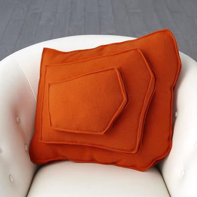 Rock Pillow - Orange - Trapezoid Shape