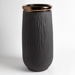 Rolled Bronze Banded Container