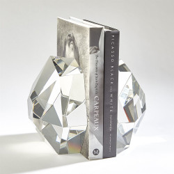 S/2 Crystal Bookends - Clear