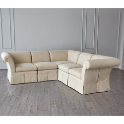 Slipper Chair Section - Flax - 1 pc