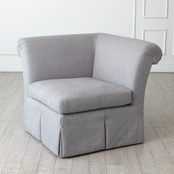 Slipper Chair Section - Heather Grey - 1 pc