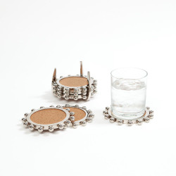 Starburst Crown Coasters - Nickel