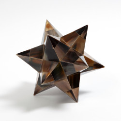 Stellated Dodecahedron - Brown Horn