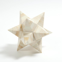 Stellated Dodecahedron - White Bone