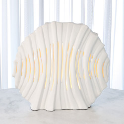 Striated Lamp - Matte White