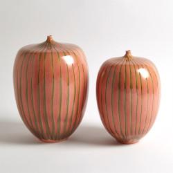 Striped Melon Vase - Sm