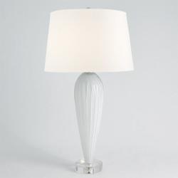 Teardrop Glass Lamp - White