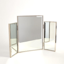 Tri - Fold Vanity Mirror - Nickel