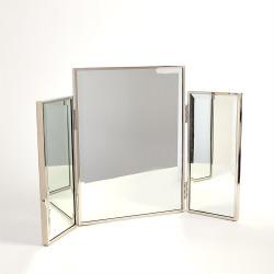 Tri - Fold Vanity Mirror - Nickel