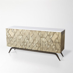 Triangle Cabinet - Brass