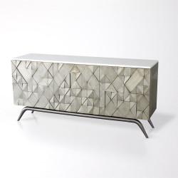 Triangle Cabinet - Silver