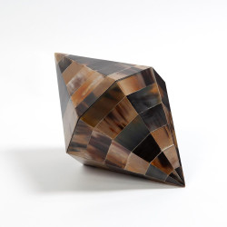 Triangle Cone Box - Brown Horn