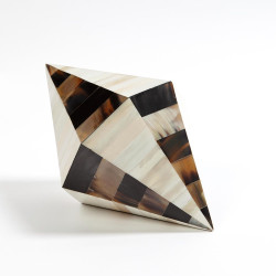 Triangle Cone Box - Brown Horn/White Bone