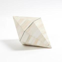 Triangle Cone Box - White Bone