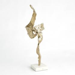 Twist Sculpture - Brass