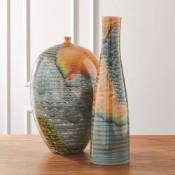 Watercolor Ringed Vase