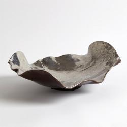 Wave Platter - Platinum Crackle
