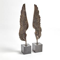 Wings Sculpture - Bronze - Pair