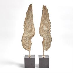 Wings Sculpture - Silver Leaf - Pair
