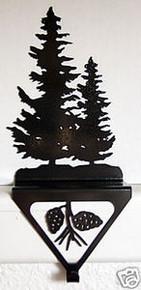 Pine Tree Stocking Holder Rustic Lodge Decor