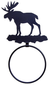 Moose Towel Ring Rustic Lodge Decor