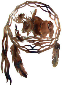 Moose Dream Catcher Metal Wall Art
