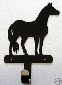 Horse Western Towel Robe Hook Metal Art