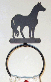 Horse Western Bathroom Decor Towel Ring