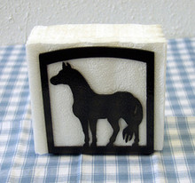 Horse Napkin Holder Western Decor Metal Art