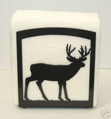Deer Wildlife Decor Metal Art Napkin Holder