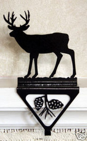 Deer Christmas Fireplace Stocking Holder
