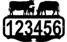 Cows and Calf  Custom Address Sign