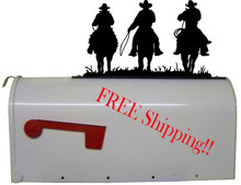 Cowboy Riders Mailbox Topper