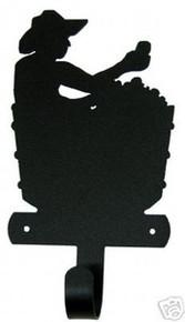 Cowboy in Tub Metal Art Robe Towel Hook